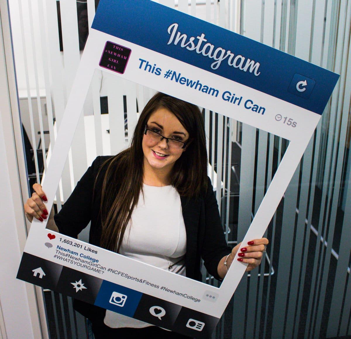 Instagram Selfie Frame Printing - Newham College