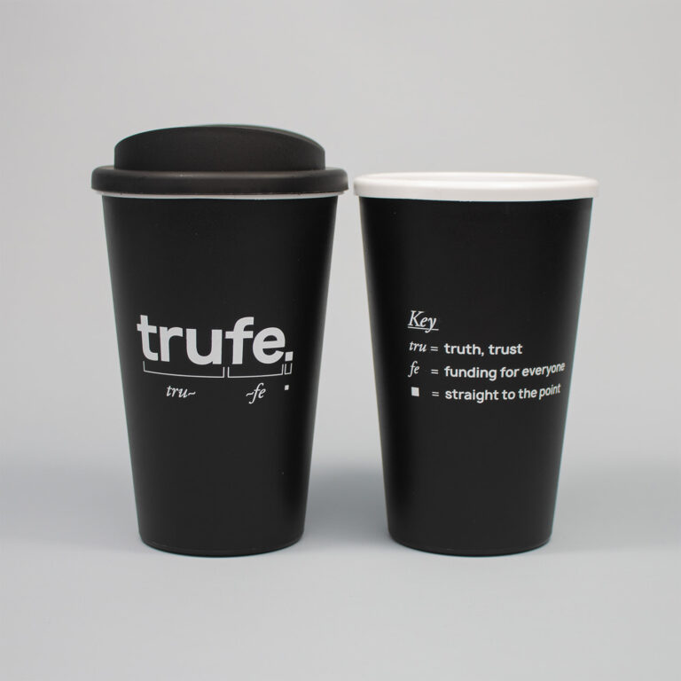 One Colour Reusable Coffee Cup Printing