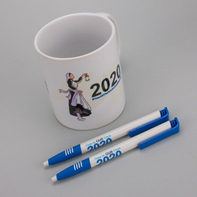 NHS Promotional Mug & Pen Printing