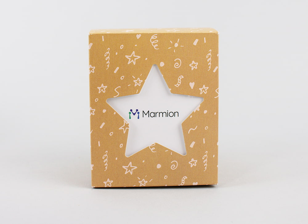 Branded Start cut-out box